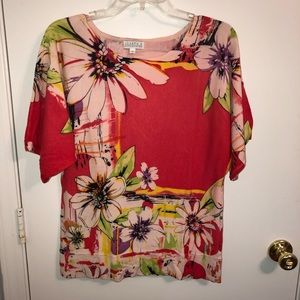 Joseph A | Women's Floral Blouse Medium
